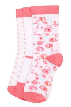 Girls Printed and Solid Socks Pack of 3