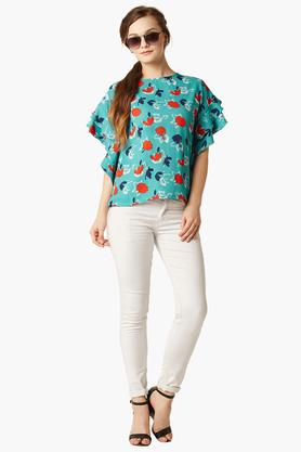 Womens Floral Print Casual Top
