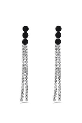 Womens Silver Plated Studded Earrings