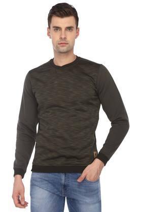 VAN HEUSEN SPORTMens Round Neck Textured Sweatshirt
