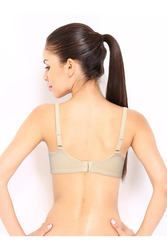 Womens Solid Lace Non Padded Non-Wired Push Up Bra