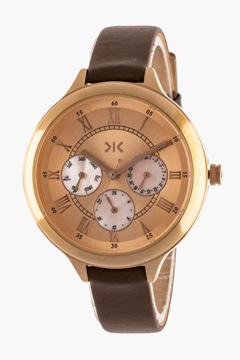 Womens Multi-Function Leather Watch - KLW545B
