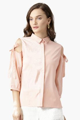 Womens Textured Casual Shirts