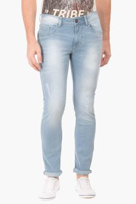 FLYING MACHINEMens Skinny Fit Distressed Jeans (Jackson Fit)