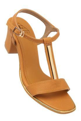 FEMINA FLAUNT Womens Casual Wear Buckle Closure Heels - 204058585_9124