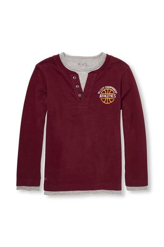 THE CHILDREN'S PLACE -  Burgundy Topwear - Main