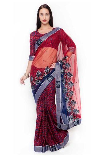 Womens Net Designer Saree