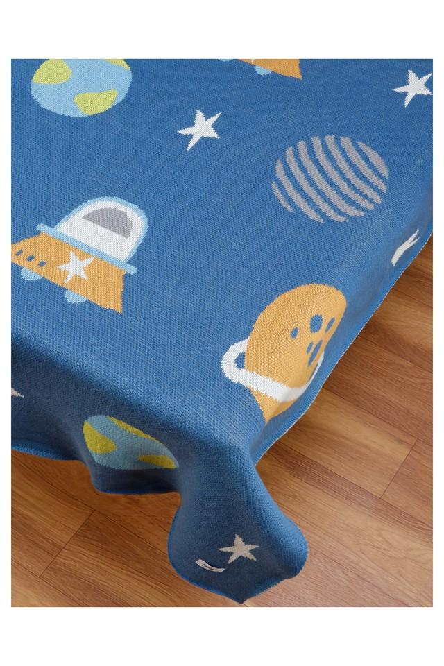 Unisex Knitted Printed Baby Blanket