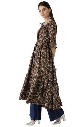 Womens Rayon Printed Anarkali Kurta