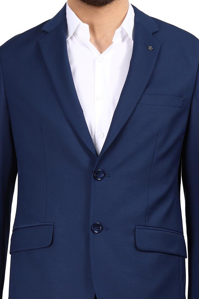 Mens Notched Lapel Solid Suit