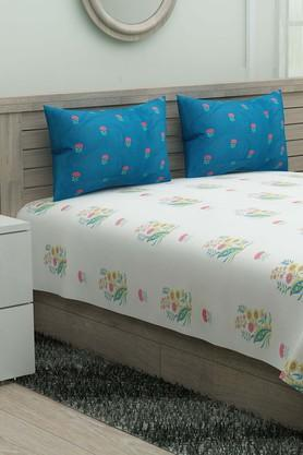 IVYPrinted Double Bedsheet With 2 Pillow Covers - 203980895_9307