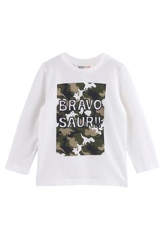 Boys Round Neck Graphic Print Tee