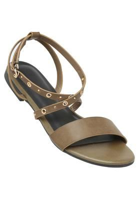 ALLEN SOLLY Womens Casual Wear Buckle Closure Flats - 202873016