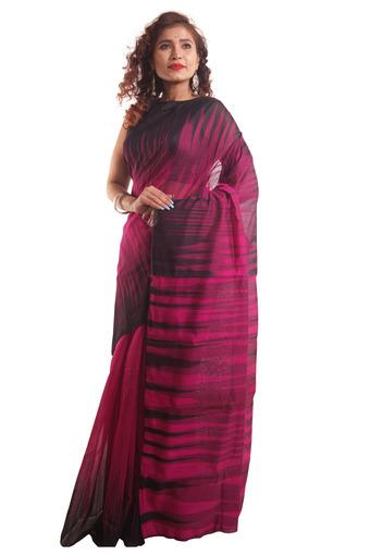 Women Ikkat Cotton Saree