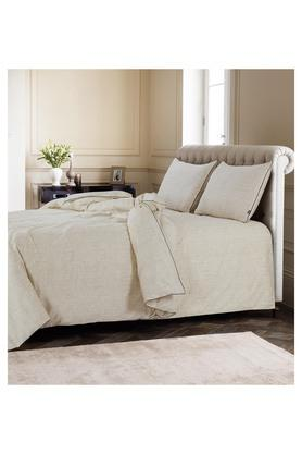 Slub King Bed Sheet with Pillow Cover