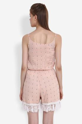 Womens Spaghetti Neck Printed Jumpsuit