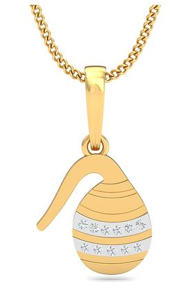 P.N.GADGIL JEWELLERS Womens Aquarius Diamond Pendant DJPD-392