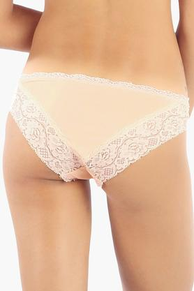 Womens Low Rise Solid Bikini Briefs