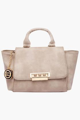 ELLIZA DONATEINWomens Metallic Lock Closure Satchel Handbag - 202722157_9124