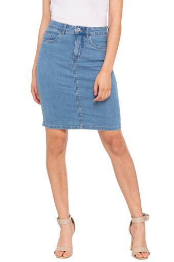 Womens 5 Pocket Washed Skirt