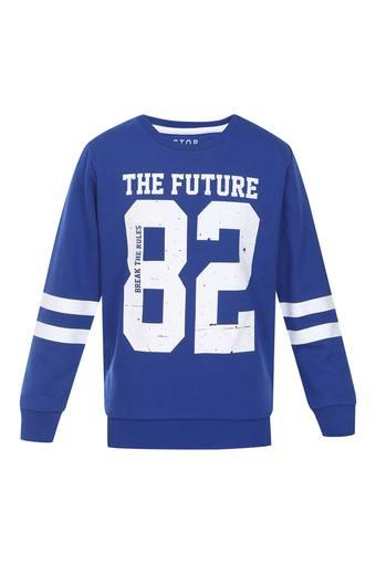 Boys Round Neck Graphic Print Sweatshirt