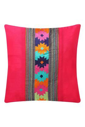 Square Resham Embroidery Cushion Cover