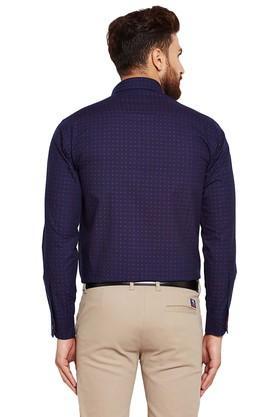Mens Slim Fit Dot Pattern Formal Shirt