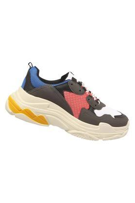 Womens Mesh Lace Up Sports Shoe