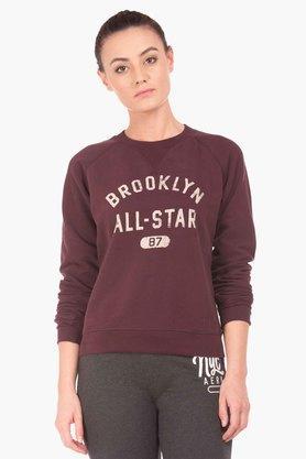 AEROPOSTALEWomens Round Neck Graphic Print Sweatshirt