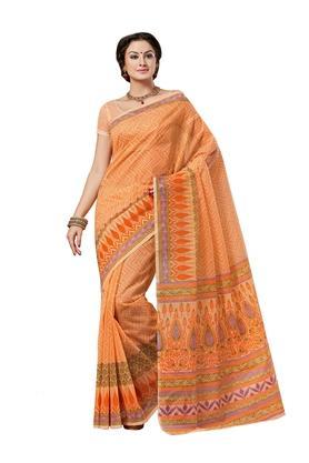 ASHIKAWomens Printed Saree With Blouse Piece - 204576995_9508
