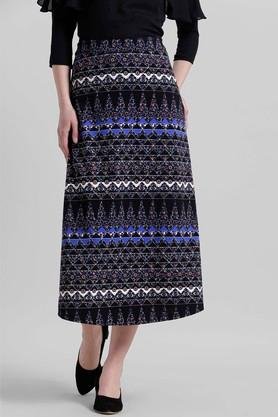 ZINK LONDON Womens Printed Calf Length Skirt