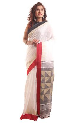 Women Linen Jamdani Saree