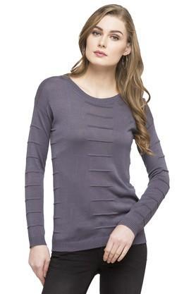 STOPWomens Round Neck Slub Sweatshirt - 203744503