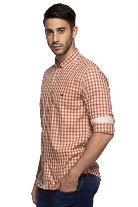 Mens Button Down Collar Check Shirt