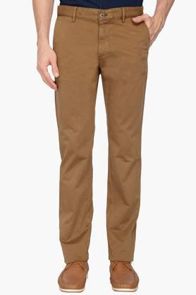 INDIAN TERRAIN Mens 4 Pocket Solid Chinos (Brooklyn Fit)