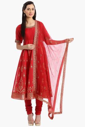 BIBAWomen Poly Cotton Anarkali Suit - 202981473