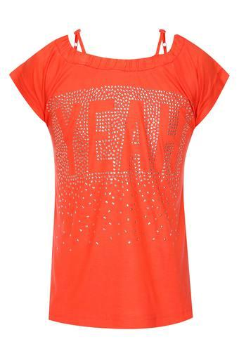 Girls Round Neck Assorted Top