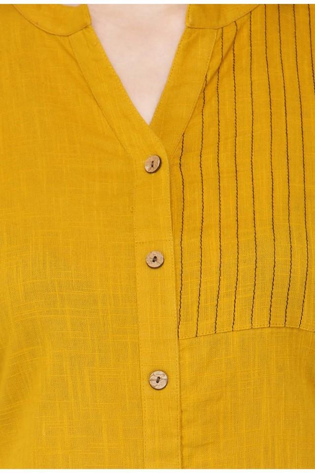 Women Cotton Solid Straight Kurta