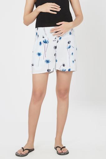 Maternity Versatile Fit Floral Print Maternity Shorts