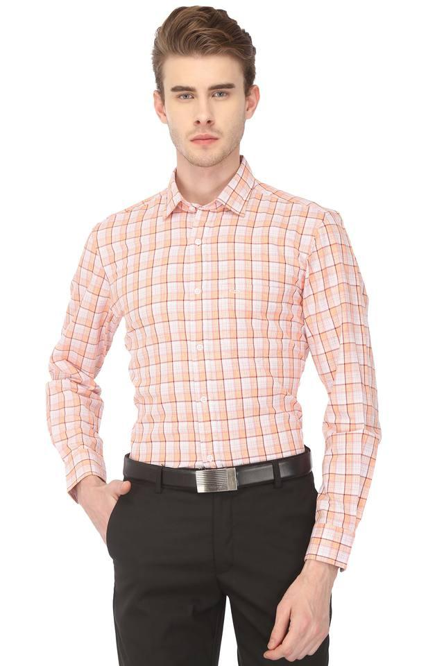 Mens Checked Formal Shirt