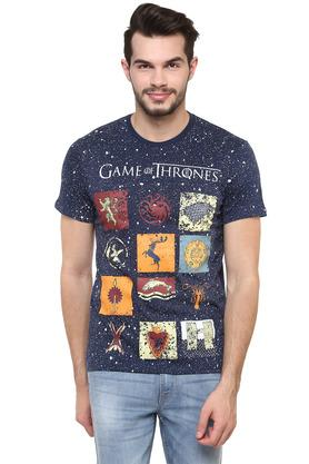 Mens Round Neck Game of Thrones Printed T-Shirt