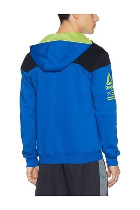 Mens Hooded Colour Block Sweatshirt