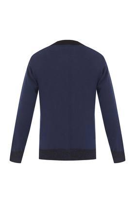 Boys Round Neck Printed Sweater