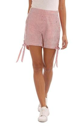 Womens 2 Pocket Stripe Shorts