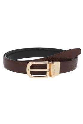 Mens Leather Buckle Closure Formal Belt
