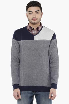 58e9f3d8c1 X STOP Mens V Neck Printed Sweater