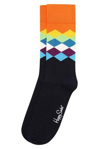 Mens Full Length Faded Diamonds Socks