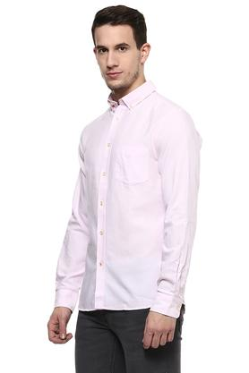 Mens Button-Down Collar Solid Shirt