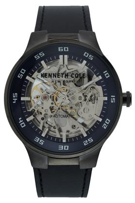 Mens New York Multi-Colour Dial Leather Automatic Watch - KC50710001MN