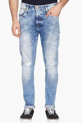 UNITED COLORS OF BENETTON Mens Carrot Fit Stone Wash Jeans